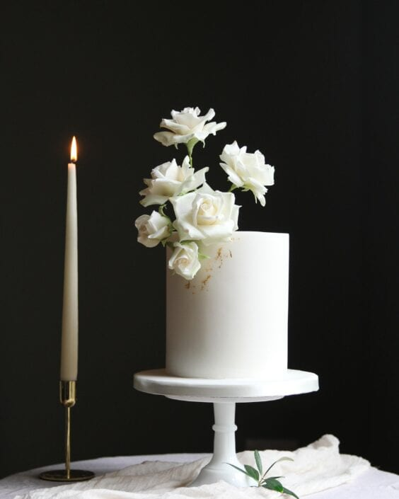 White Roses Wedding Cake Cove Cake Design