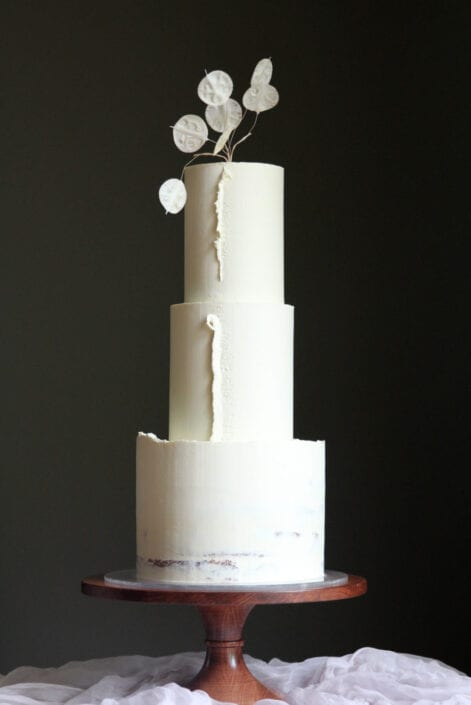 Delicate Ganache Wedding Cake Cove Cake Design