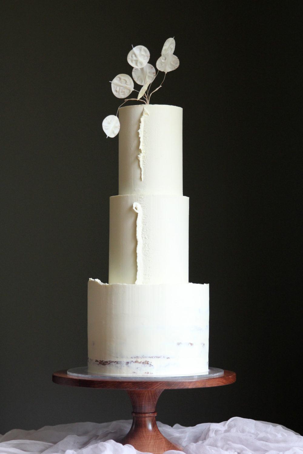 Delicate Ganache Wedding Cake Cove Cake Design