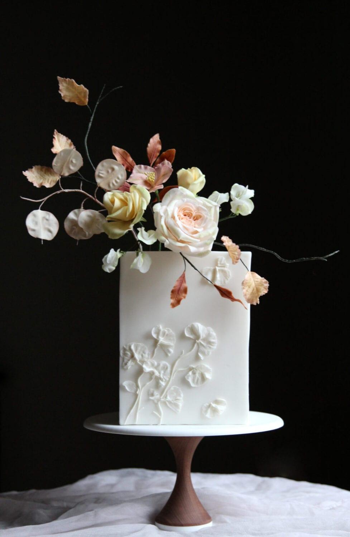 Autumn Flowers Wedding Cake Cove Cake Design