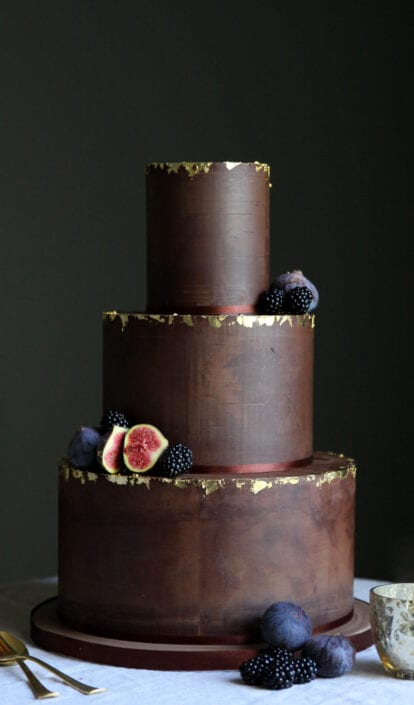 Decadent Chocolate Wedding Cake Cove Cake Design