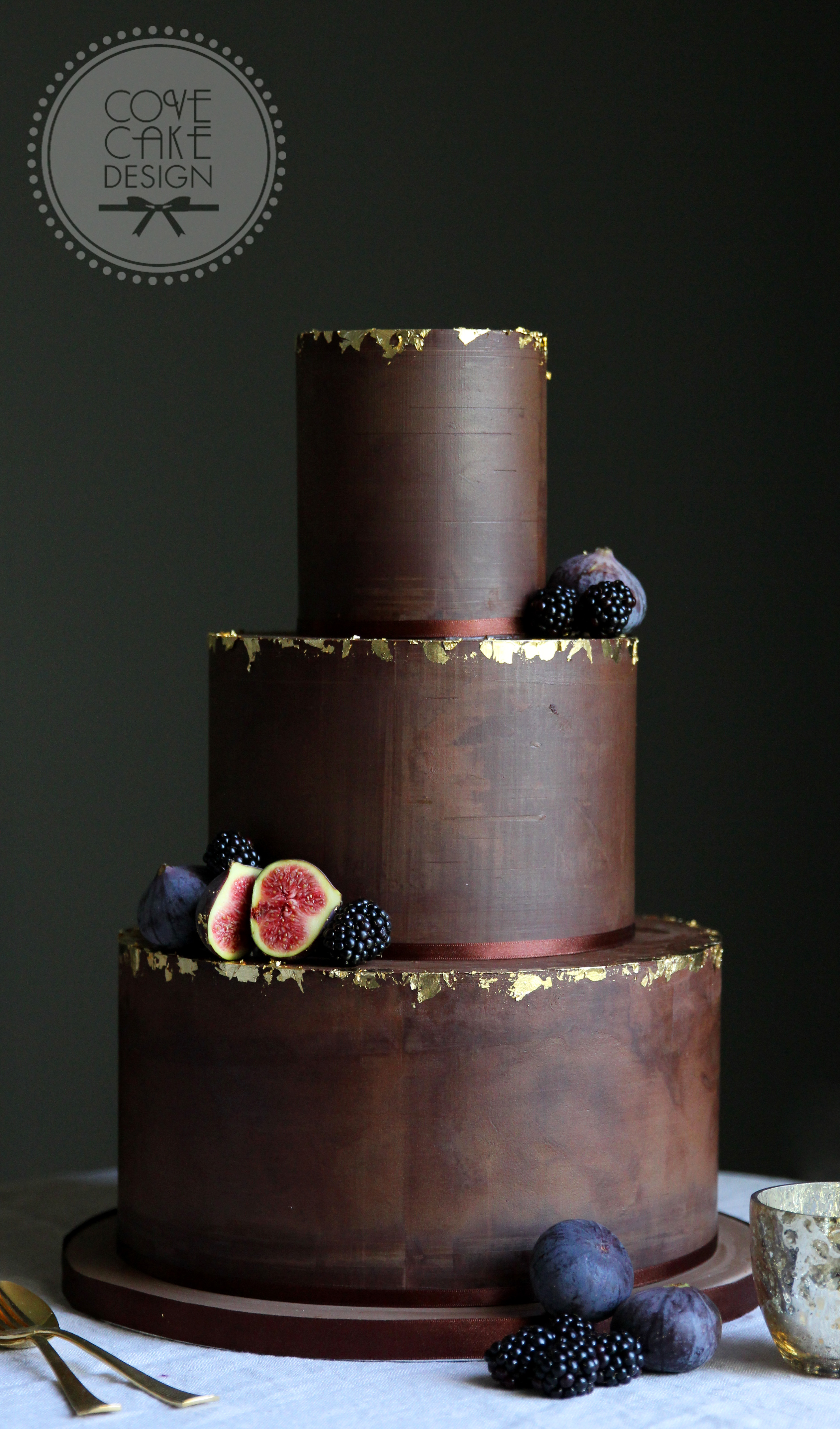 Chocolate Cake With Gold Leaf