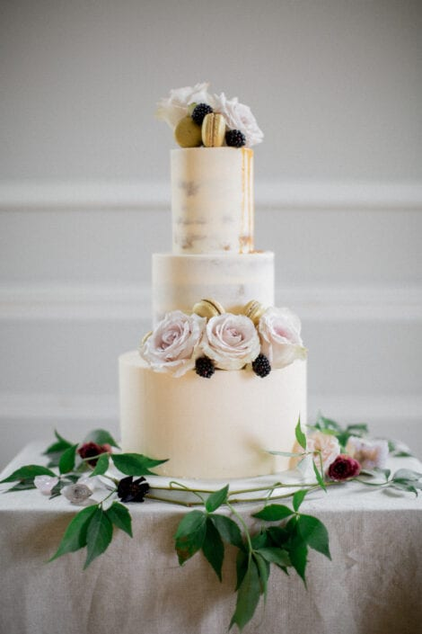 Buttercream Caramel Drip Wedding Cake