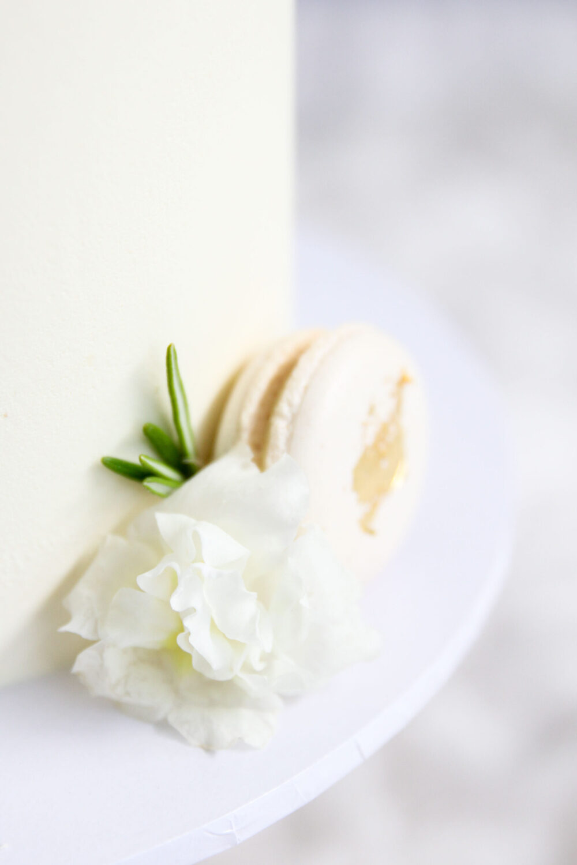 Intimate White Wedding Cake Cove Cake Design