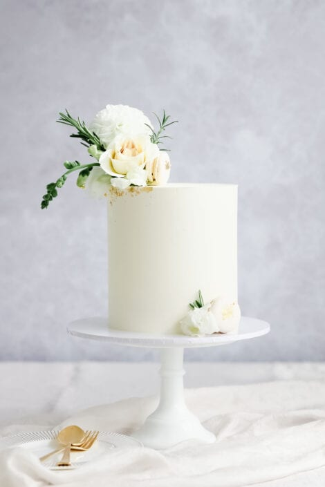Intimate White Wedding Cake Cove Cake Design