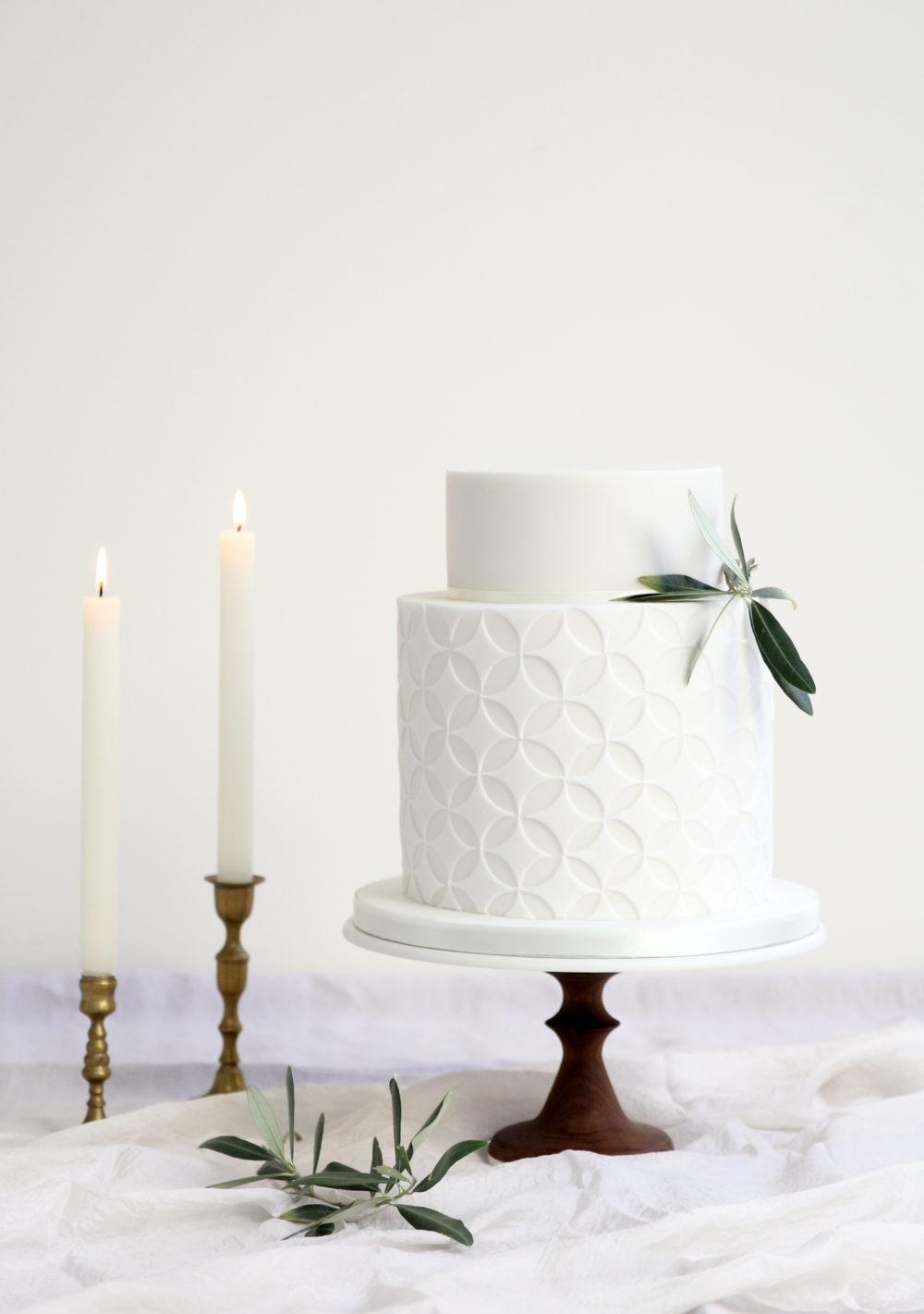 Geometric wedding cake Cove Cake Design