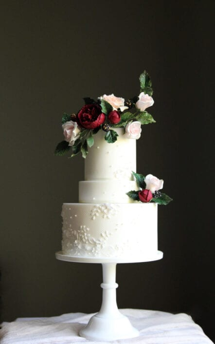 Lace Applique Wedding Cake Cove Cake Design