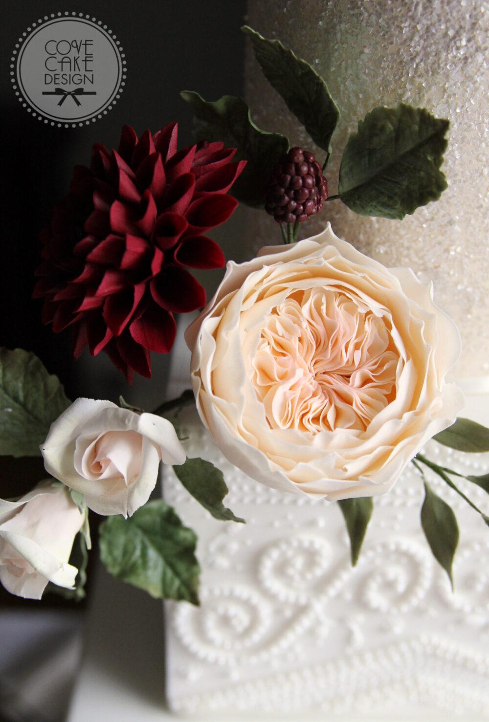 Bridal Detail Wedding Cake Cove Cake Design