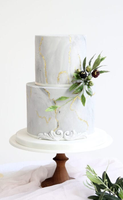Marble Wedding Cake Cove Cake Design