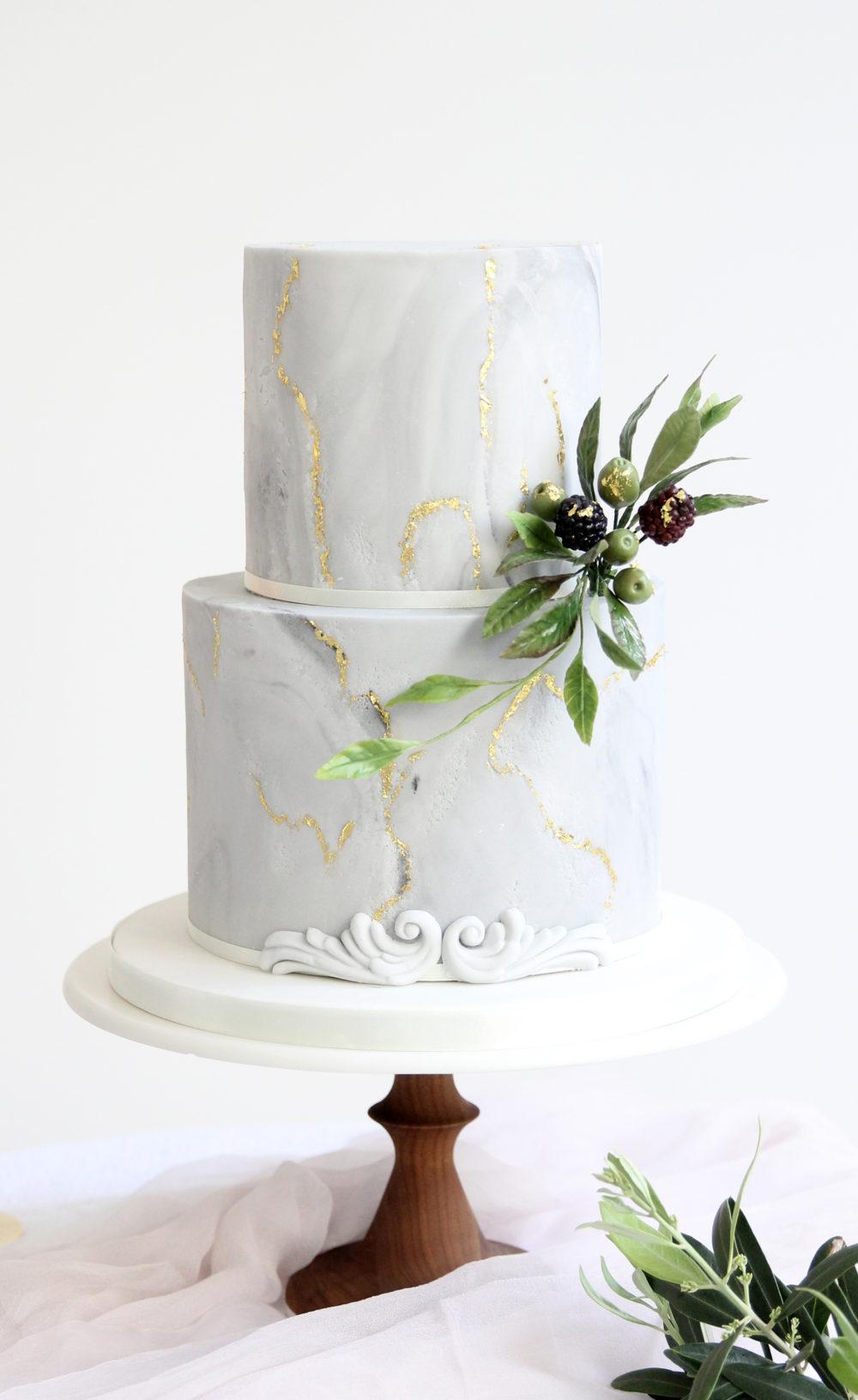Marble Wedding Cake Cove Cake Design