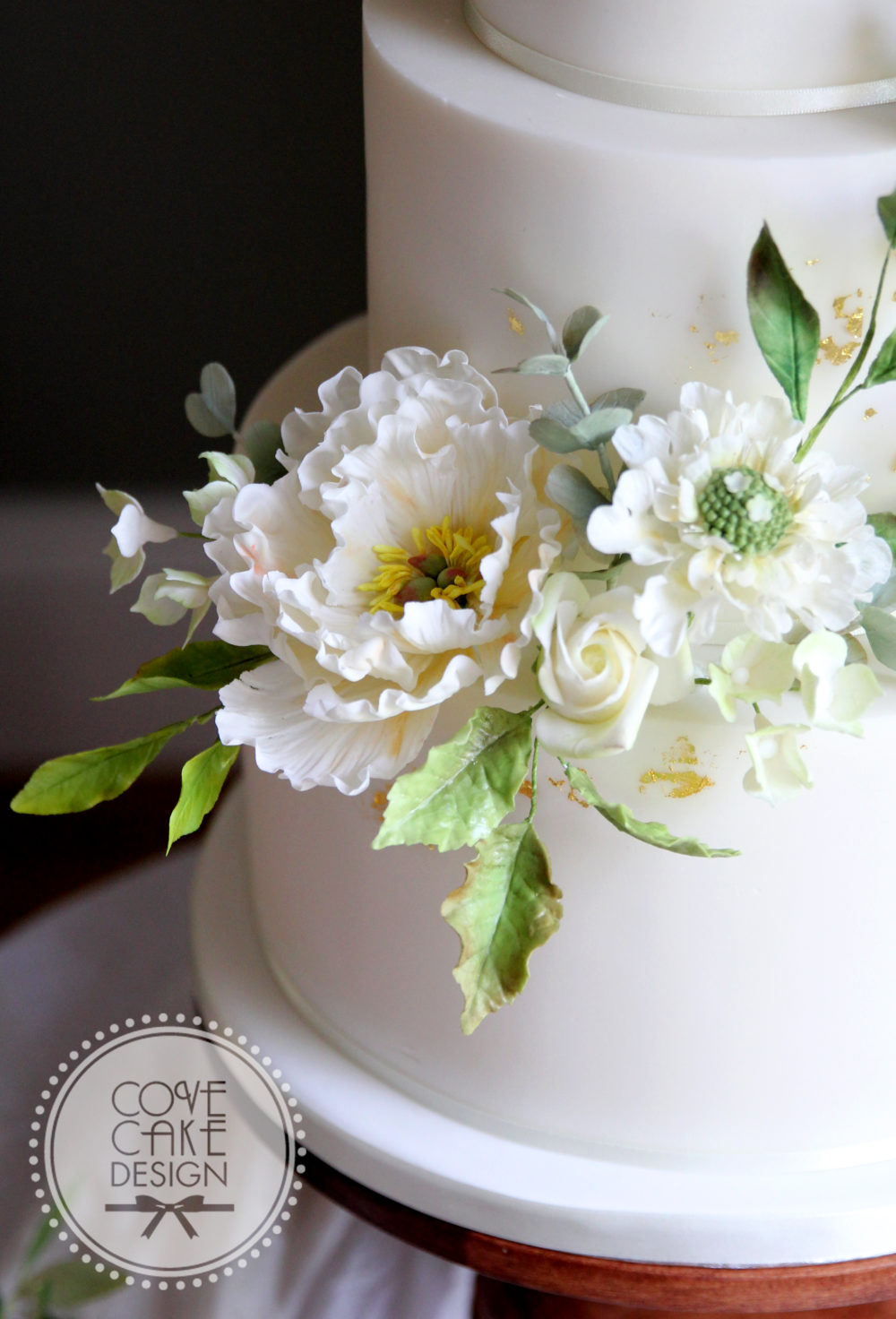 Summer White Wedding Cake Cove Cake Design