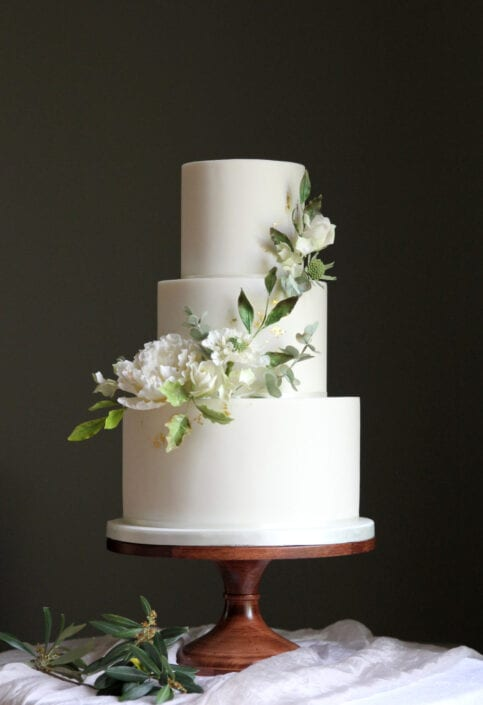 Summer White Wedding Cake Cove Cake Design