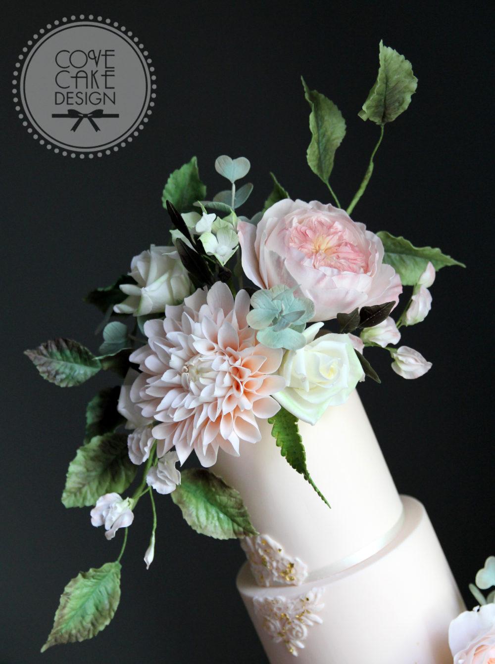 Garden Flowers Wedding Cake Cove Cake Design