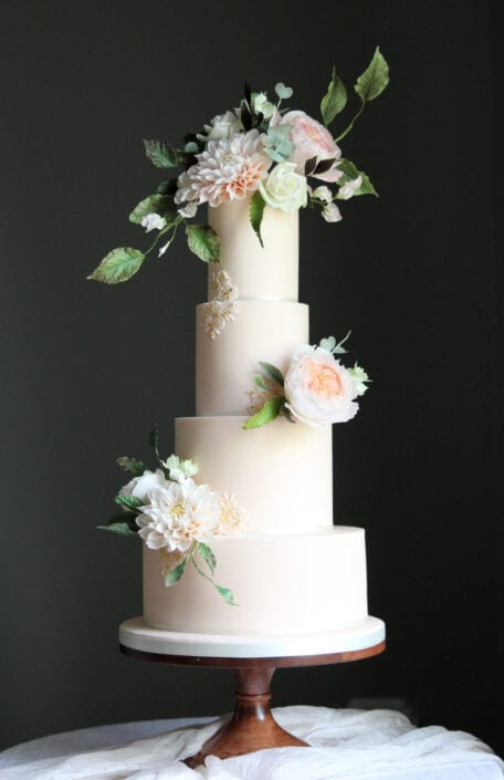 Garden Flowers Wedding Cake Cove Cake Design