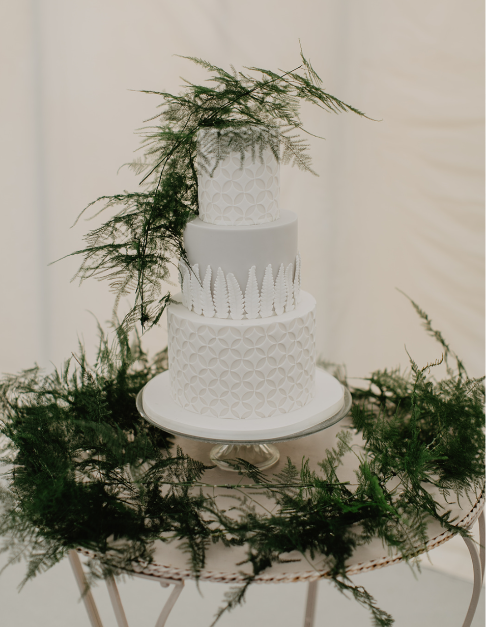 Geometric wedding cake Cove Cake Design