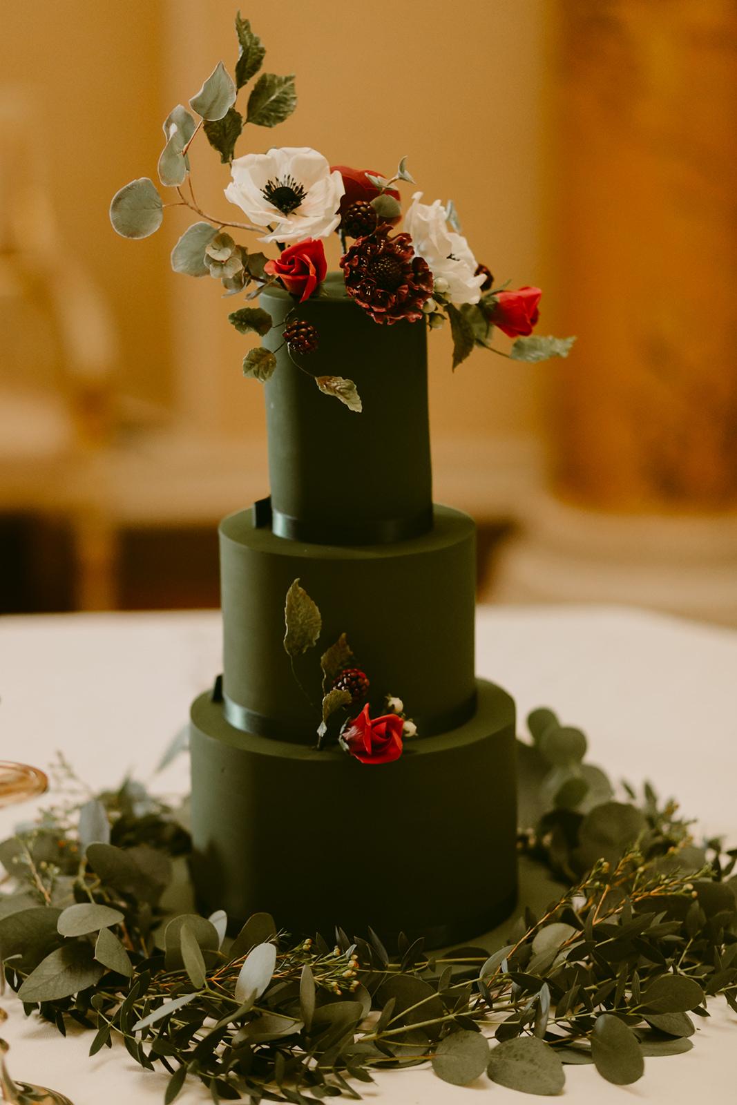 Emerald Green Wedding Cake Cove Cake Design