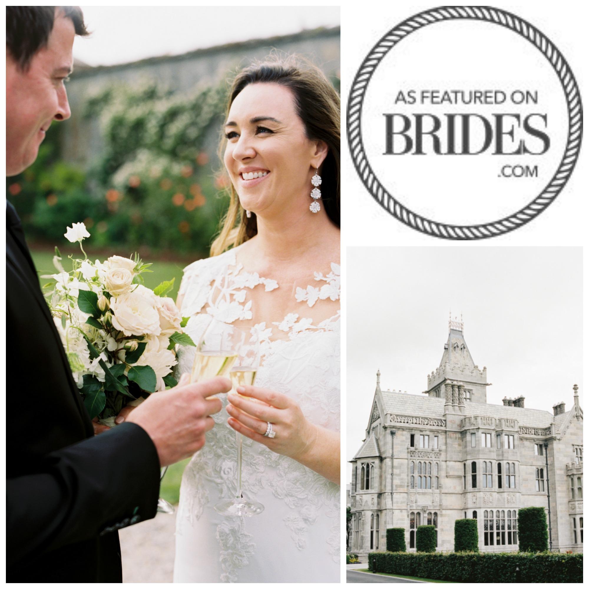 Brides magazine wedding feature Cove Cake Design