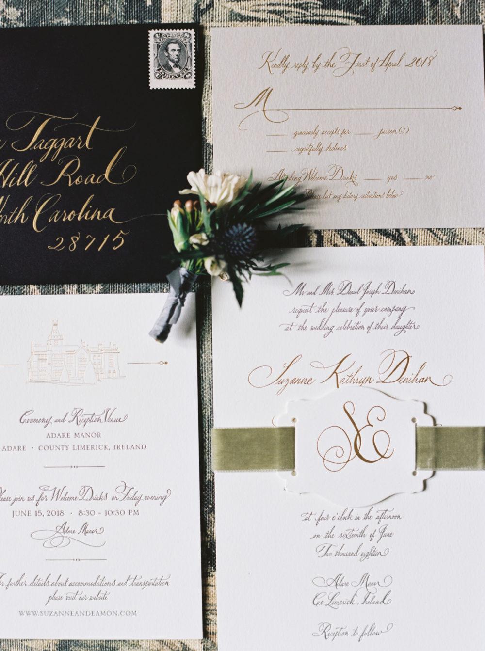 Wedding invitations Suzanne and Eamon