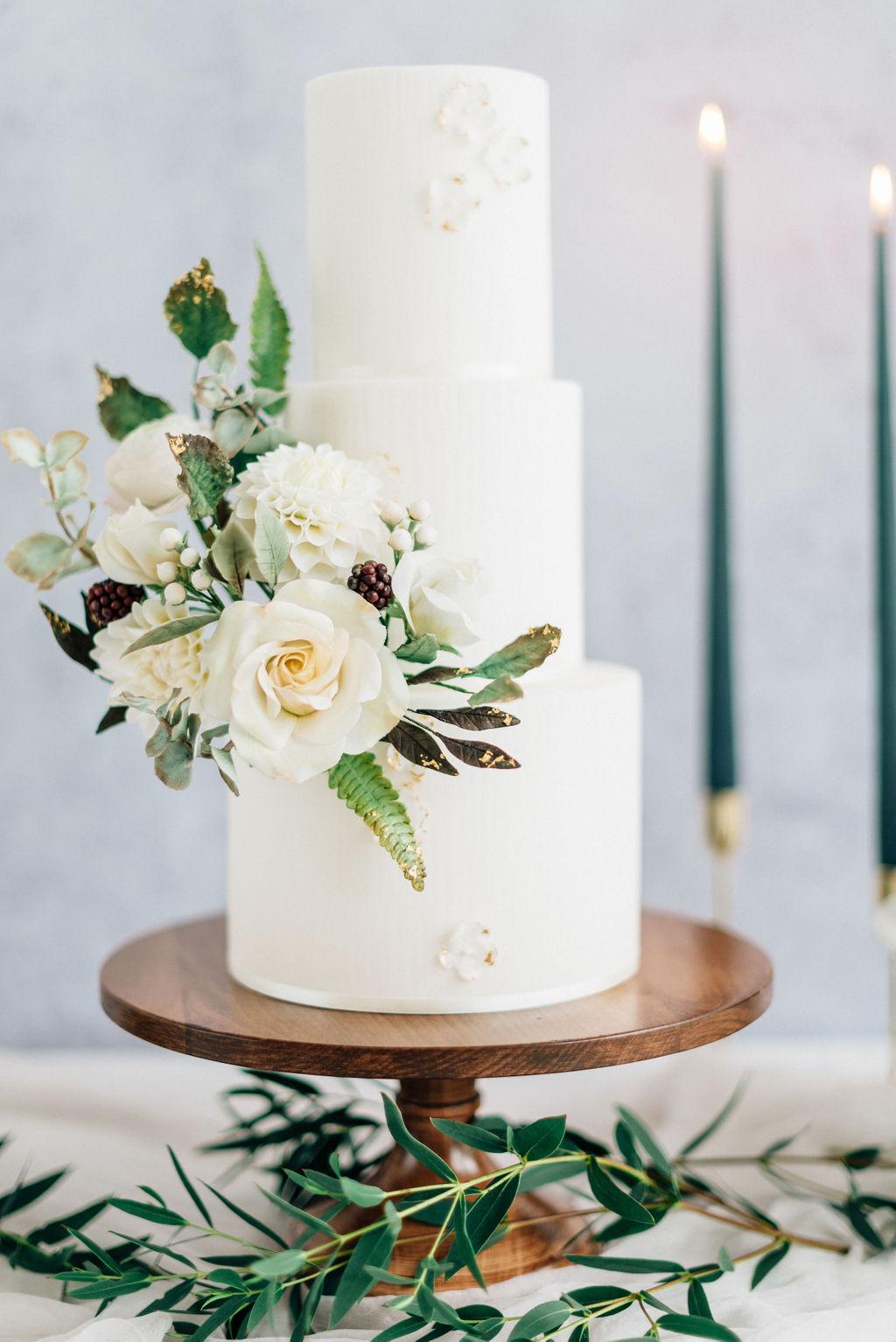White wedding cake Cove Cake Design