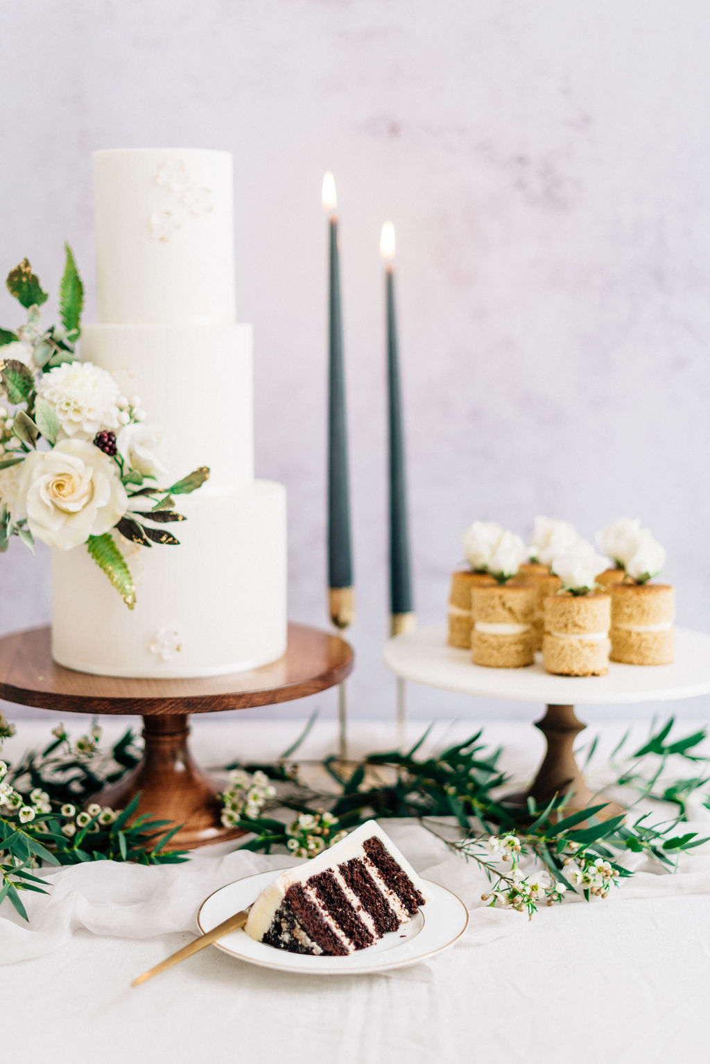 White wedding cake table Cove Cake Design