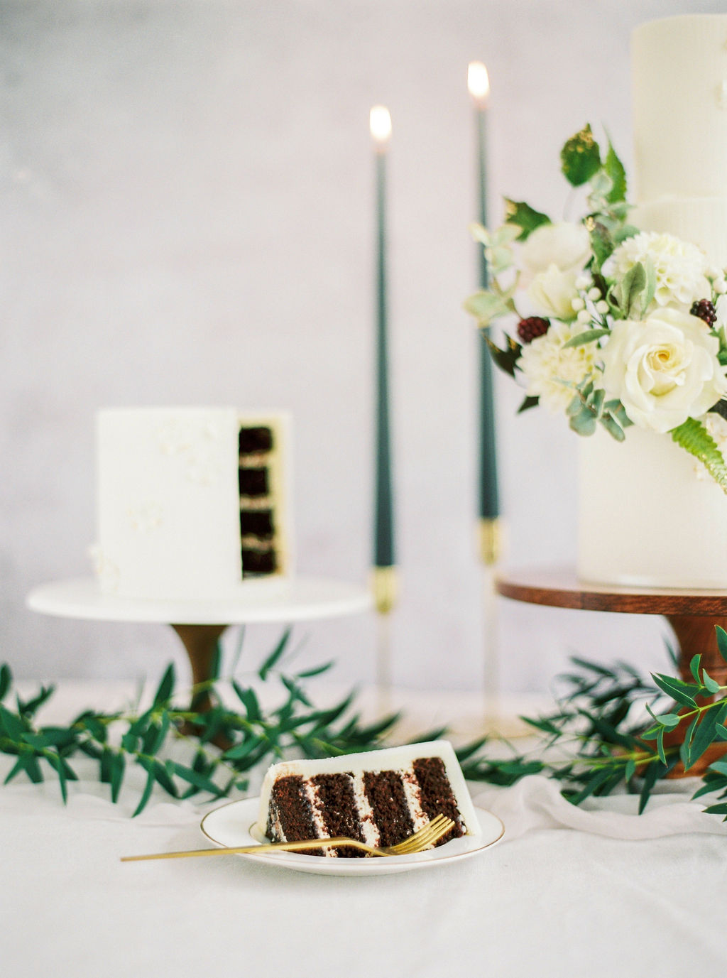 Chocolate wedding cake Cove Cake Design