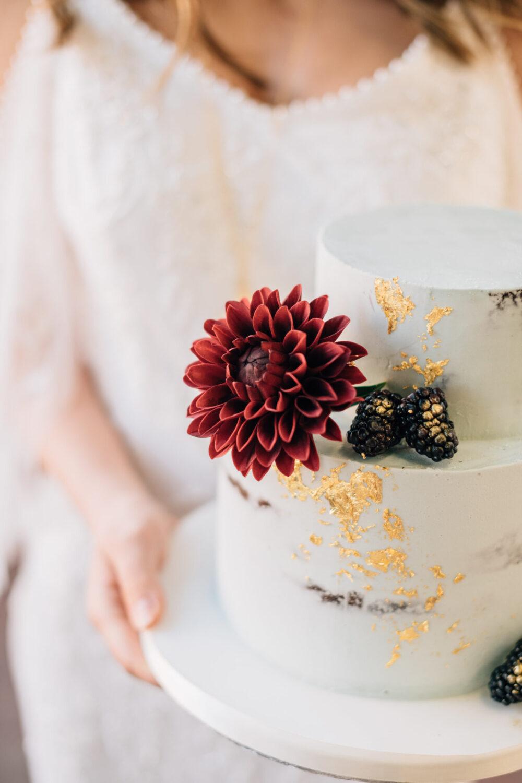 Sugar Dahlia Wedding Cake Cove Cake Design
