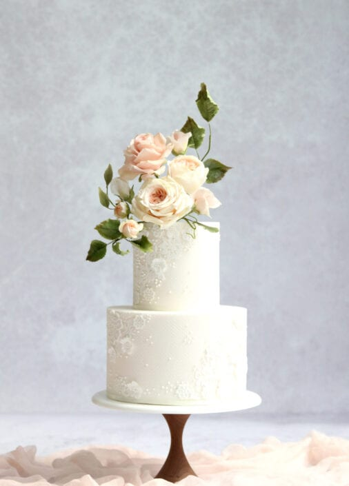 Blush Romance Wedding Cake Cove Cake Design