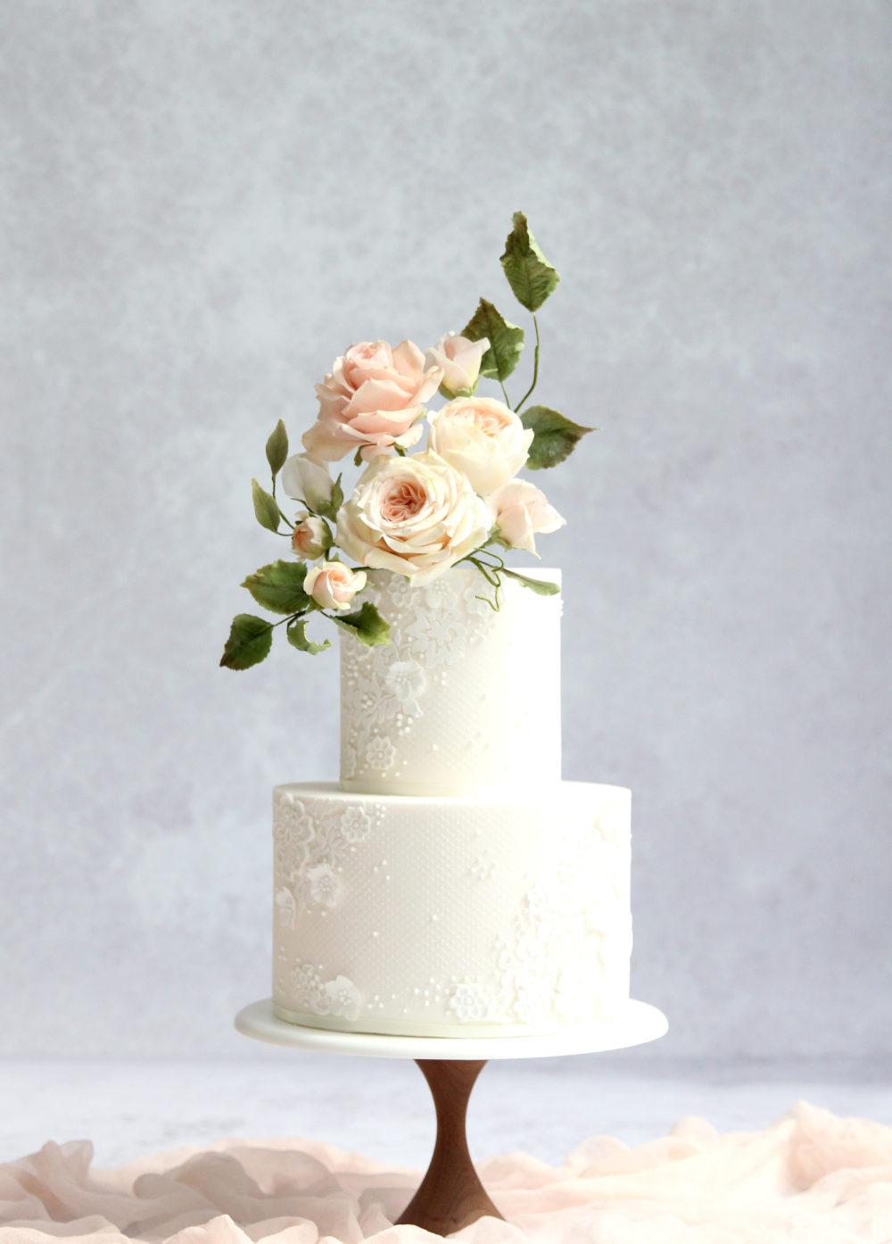 Blush Romance Wedding Cake Cove Cake Design