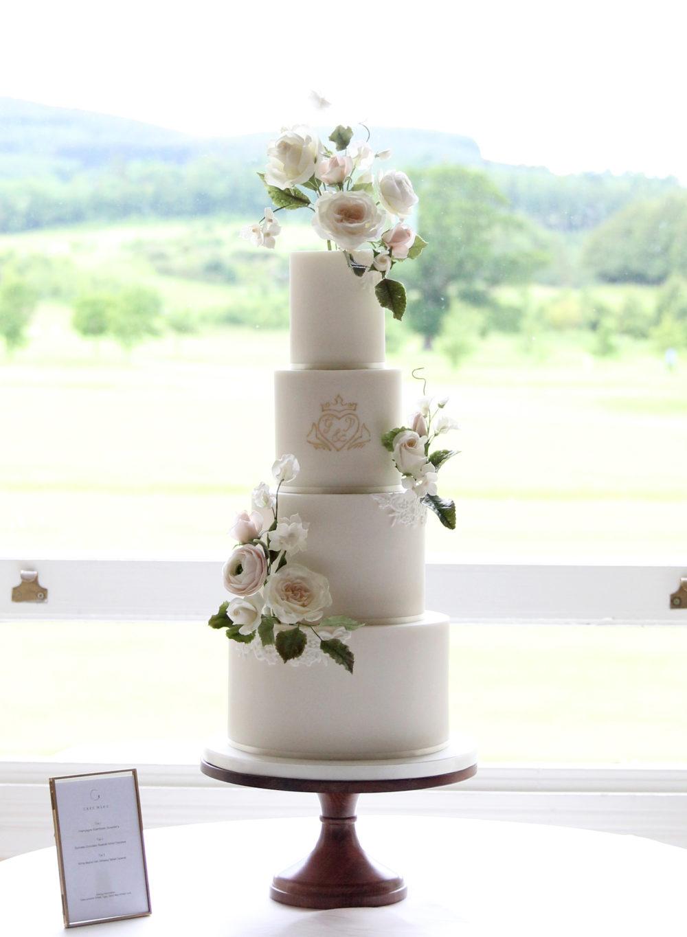 Monogram Wedding Cake Cove Cake Design