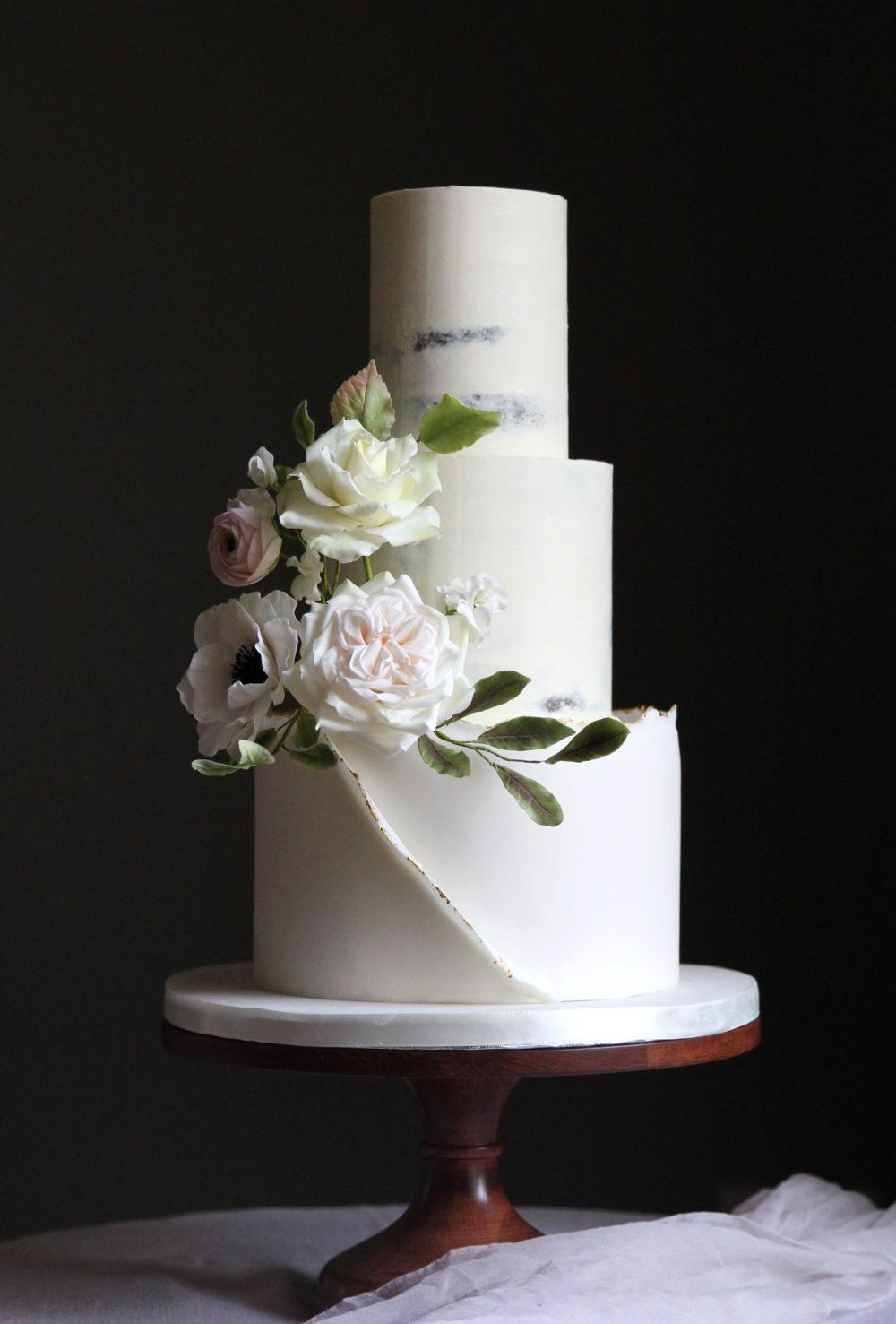 Deckle Edge Wedding Cake Cove Cake Design