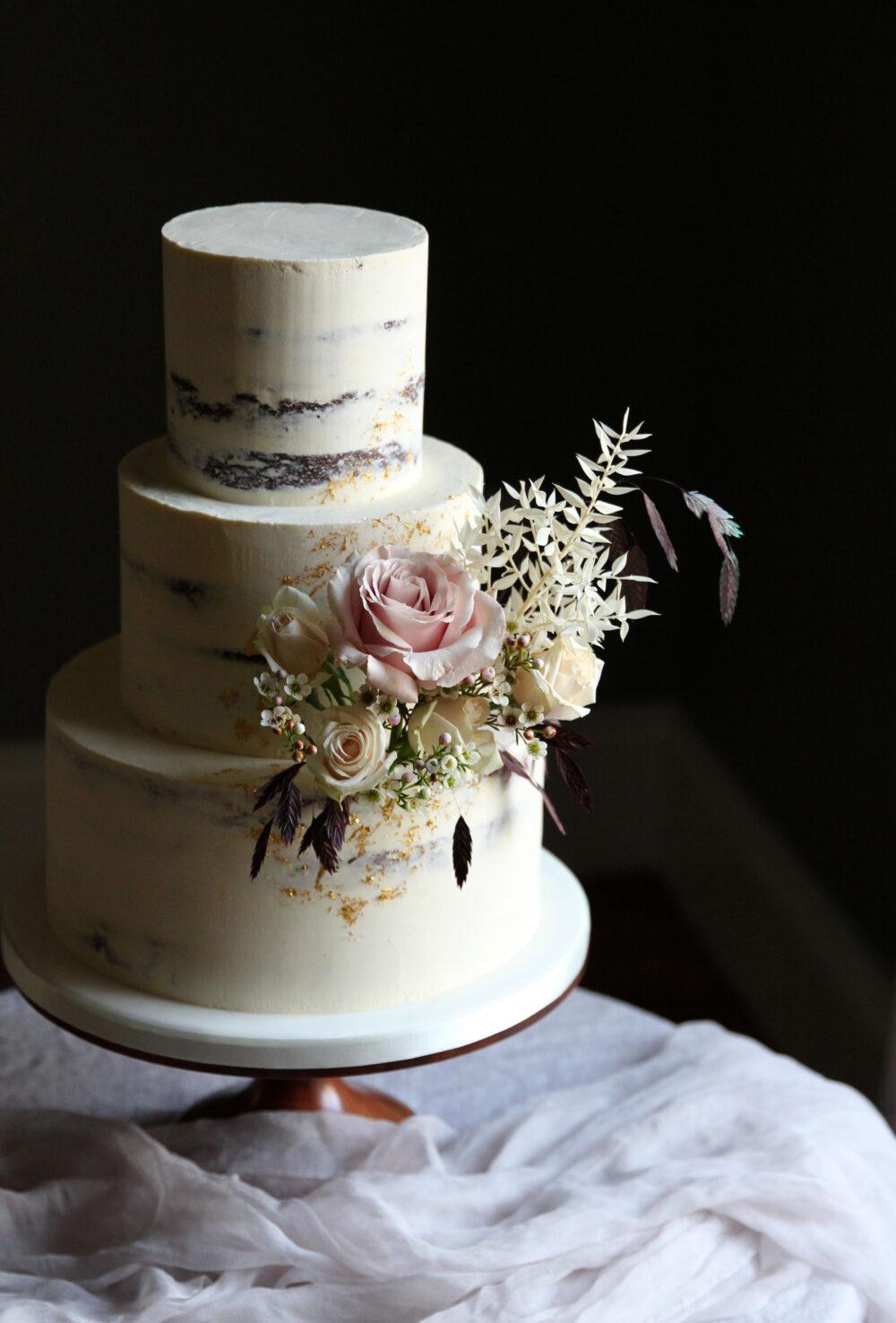 Dried Florals Wedding Cake Cove Cake Design