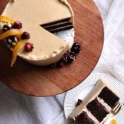 Chocolate Chestnut Cranberry Layer Cake Recipe Cove Cake Design
