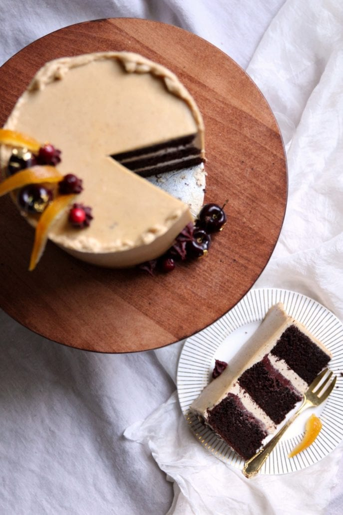 Chocolate Chestnut Cranberry Layer Cake Recipe Cove Cake Design