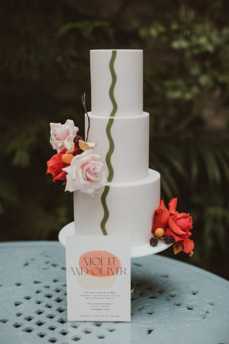 Modern wedding cake Cove Cake Design