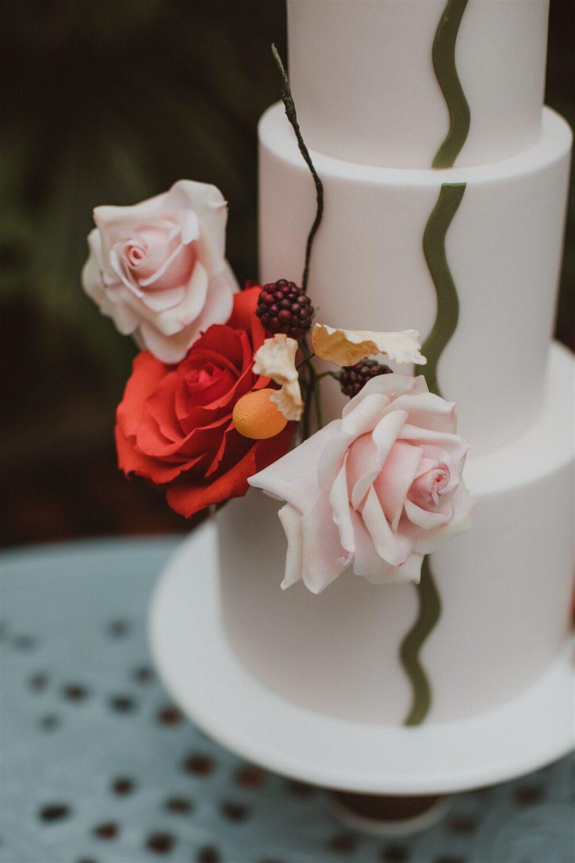 Wedding cake flowers Cove Cake Design