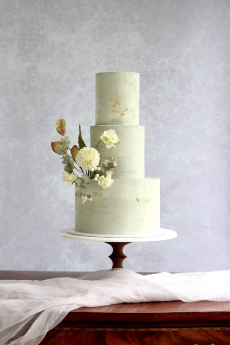 Marbled ganache wedding cake Cove Cake Design