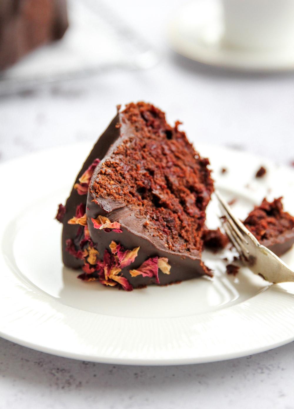 Chocolate Beetroot Bundt Cake Slice