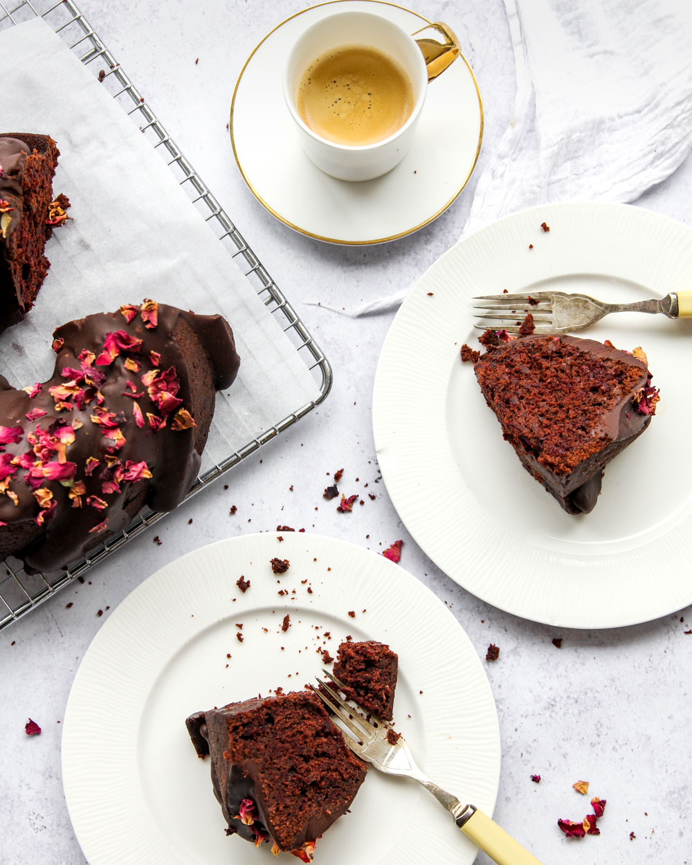 Chocolate Beetroot Bundt Cake Slice