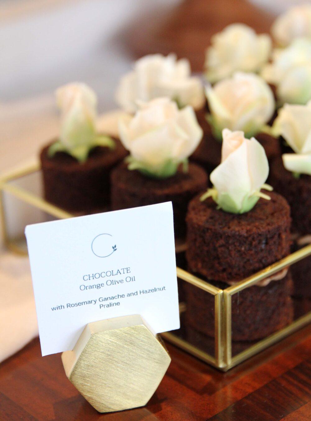 Chocolate mini cakes Cove Cake Design