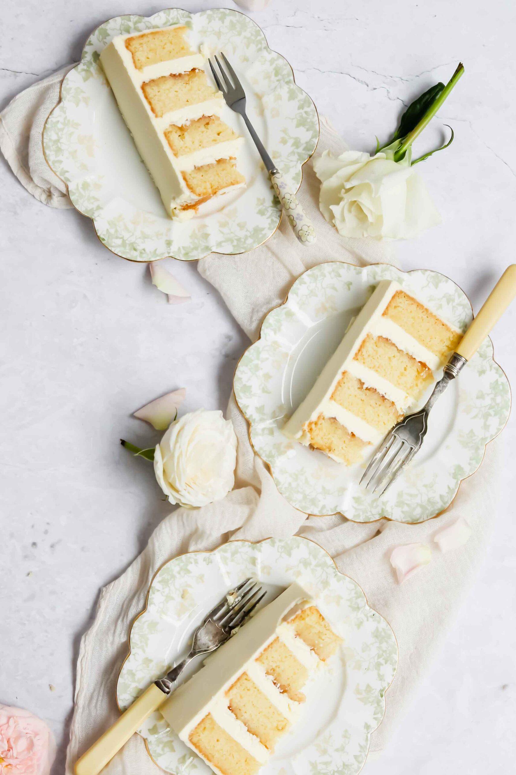 Champagne elderflower rhubarb cake