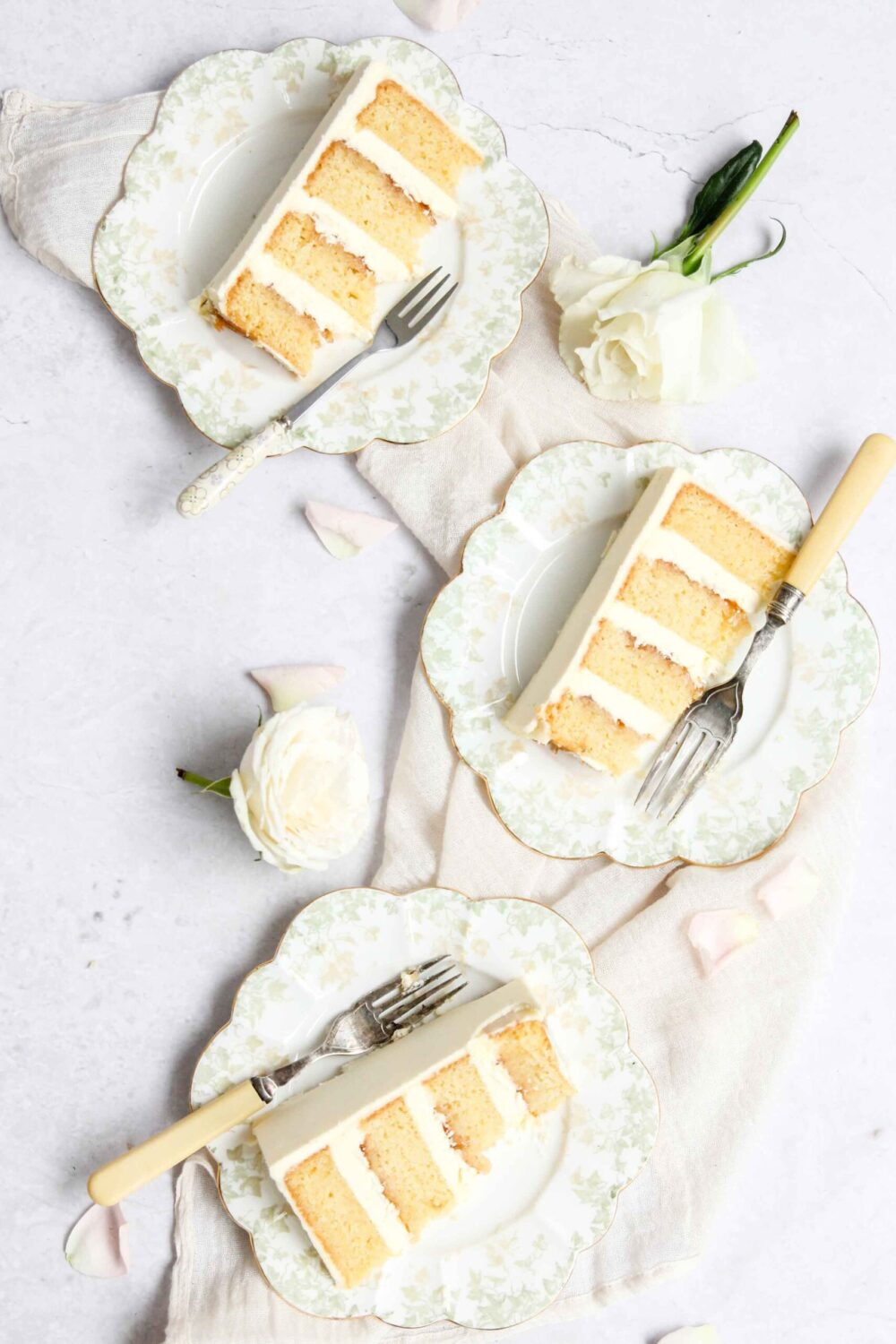 Champagne elderflower rhubarb cake Cove Cake Design