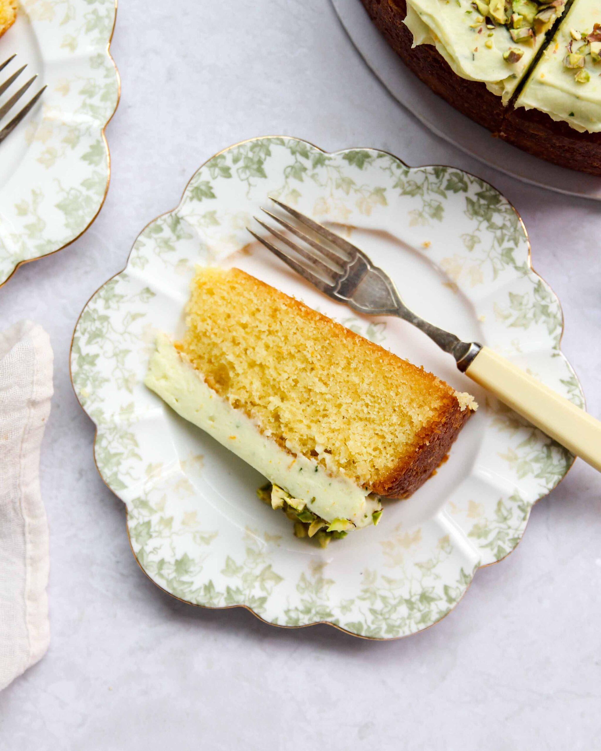 Orange Almond Cake Slice