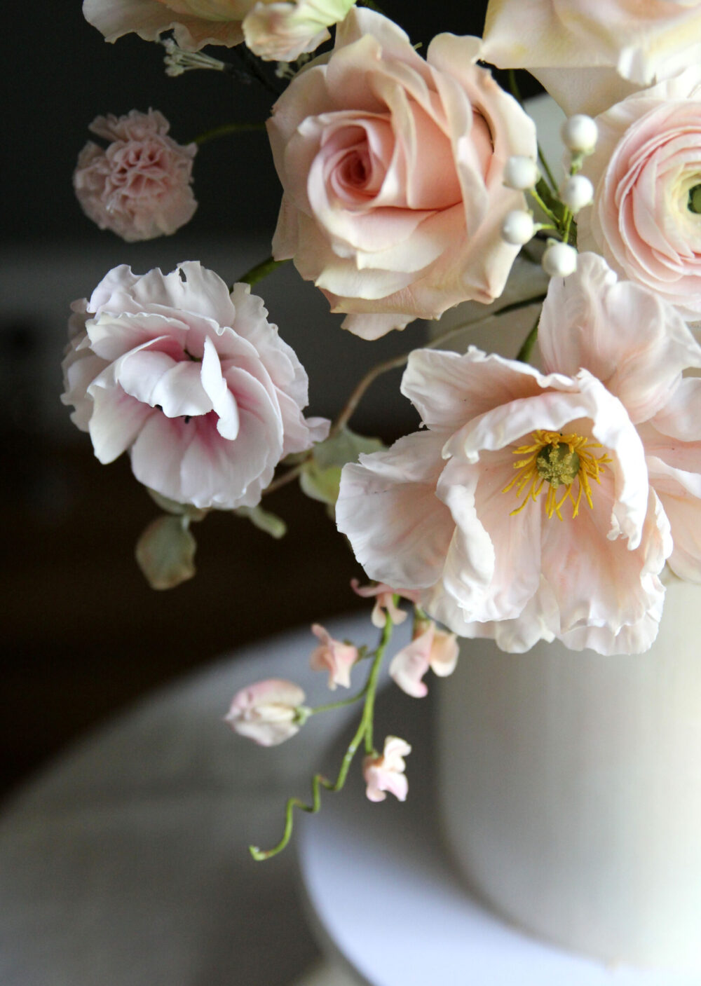 Pretty gumpaste sugar flowers Cove Cake Design