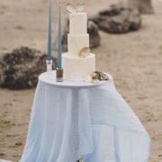 Beach wedding inspiration Cove Cake Design