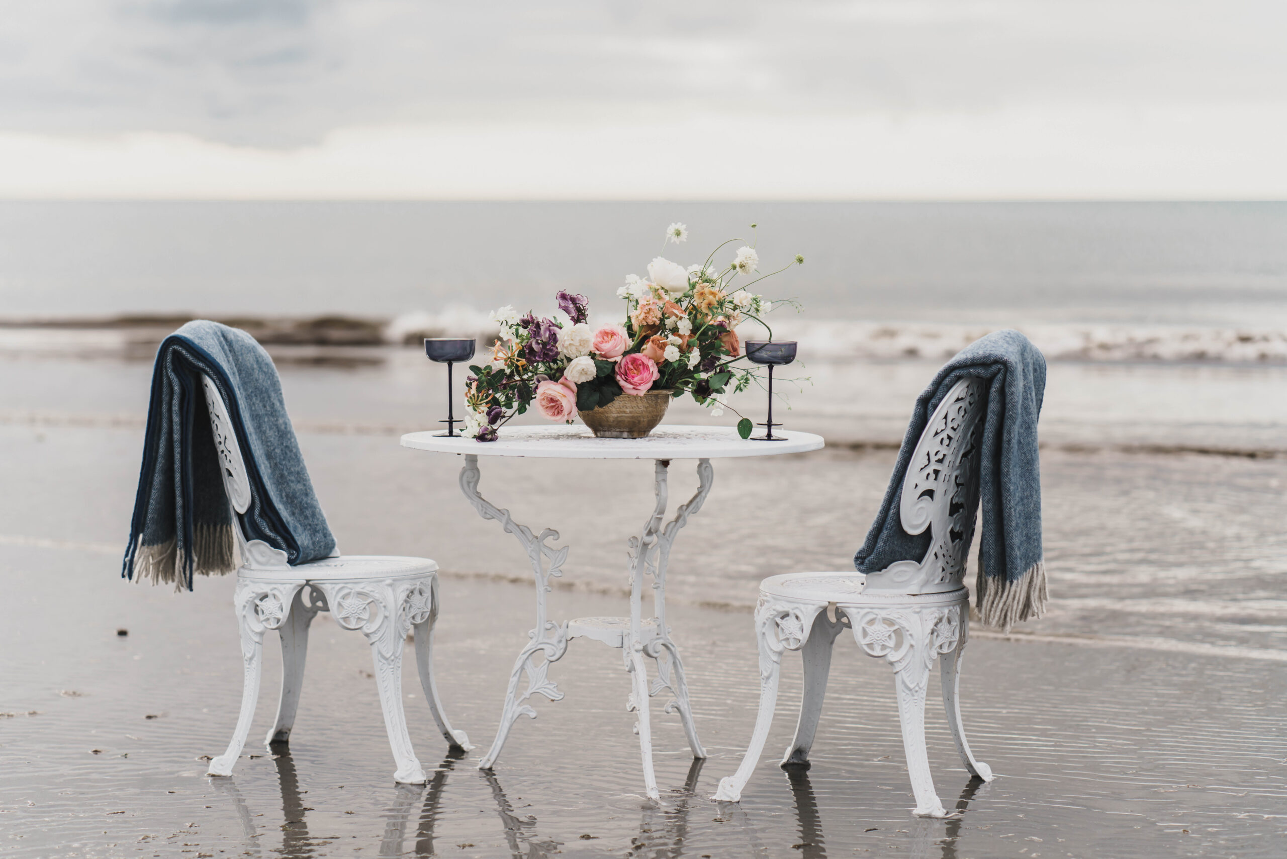 Beach wedding inspiration intimate tablescape