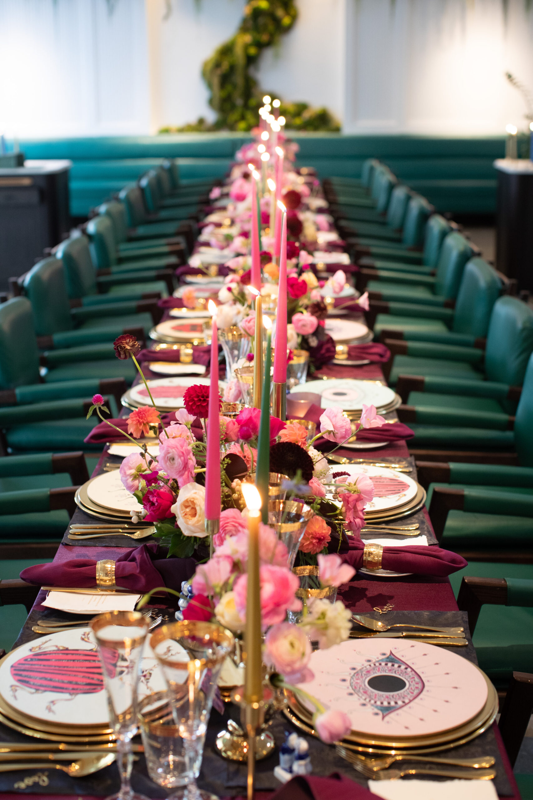 Vibrant wedding reception