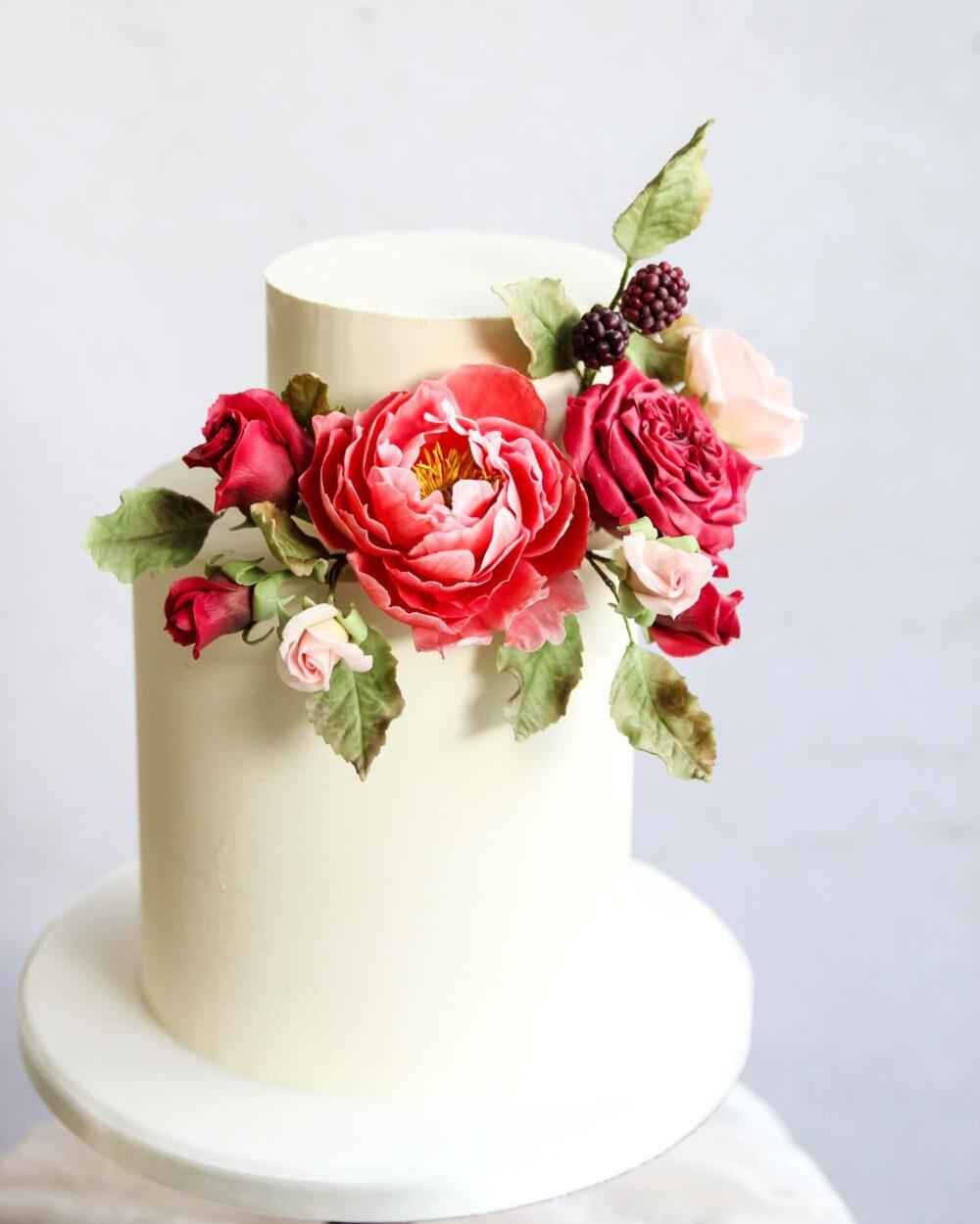 Winter Reds Wedding Cake Cove Cake Design