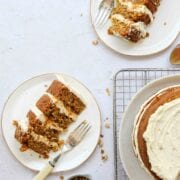 Carrot Orange Walnut Layer Cake