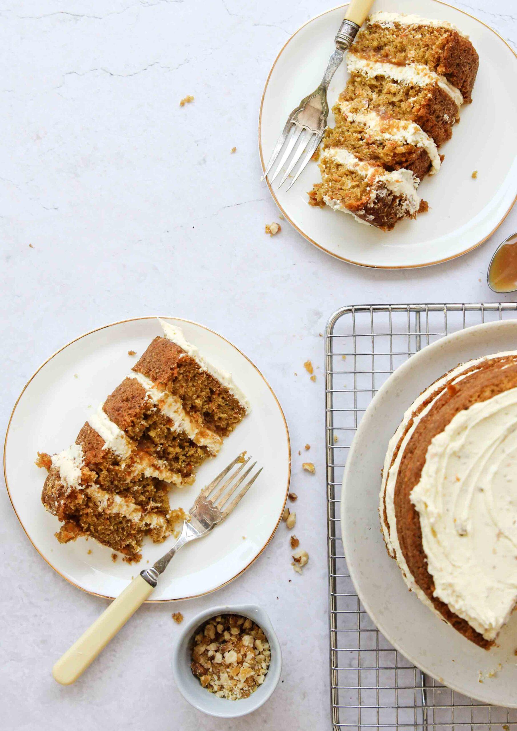 Carrot Orange Walnut Layer Cake