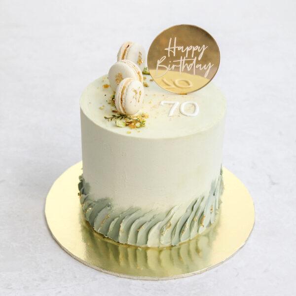 Buttercream Texture Birthday Cake